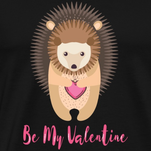 Hedgehog holding heart in his hands - Men's Premium T-Shirt