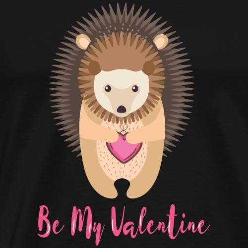 Hedgehog holding heart in his hands - Men's Premium T-Shirt