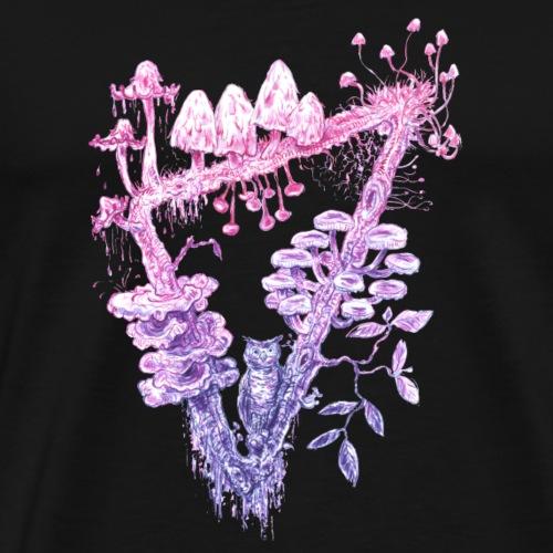 triangle / mushrooms / owl / fungi - Men's Premium T-Shirt