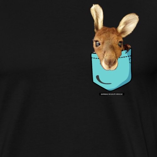 Kangaroo in a Pocket - Men's Premium T-Shirt