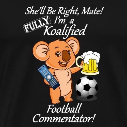 Football Commentator White for Dark Clothes - Men's Premium T-Shirt