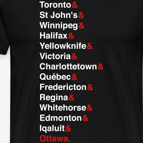 Canada's Capitals - Red & White - Men's Premium T-Shirt