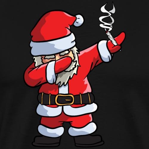 Santa Smoking Weed Dabbing Marijuana - Men's Premium T-Shirt
