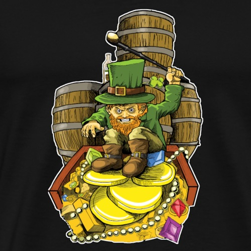 Angry Irish Leprechaun - Men's Premium T-Shirt