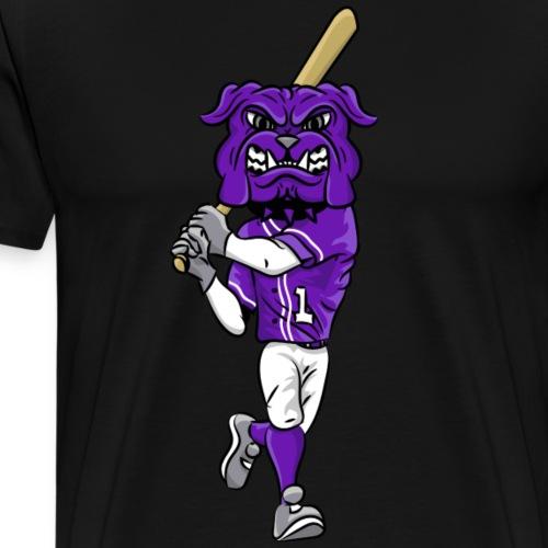 custom bulldog mascot purple baseball - Men's Premium T-Shirt