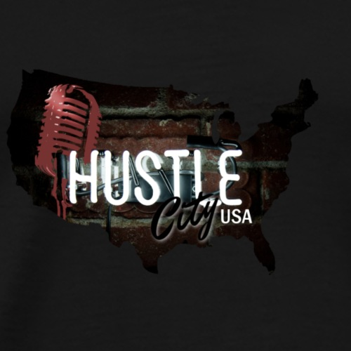 Hustle_City_USA - Men's Premium T-Shirt