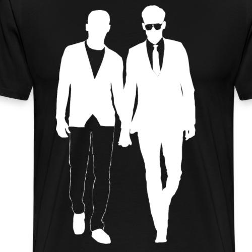 Guys holding hands gay men from Bent Sentiments - Men's Premium T-Shirt
