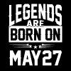 Legends are born on May 27 - Men's Premium T-Shirt
