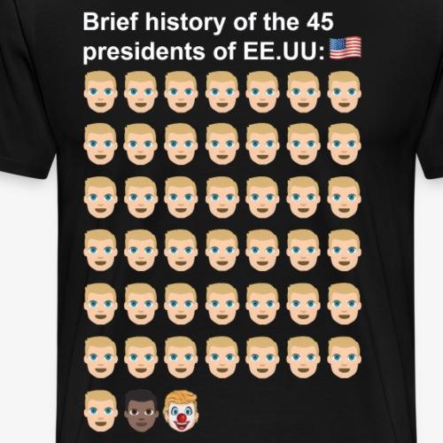 45 trump letras blancas - Men's Premium T-Shirt