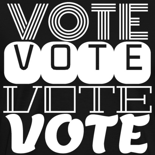 vote white text - Men's Premium T-Shirt