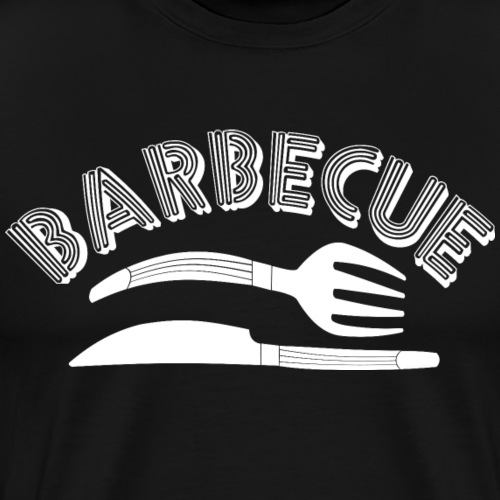 Barbecue White Knife and Fork - Men's Premium T-Shirt