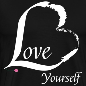 Love Yourself in white - Men's Premium T-Shirt