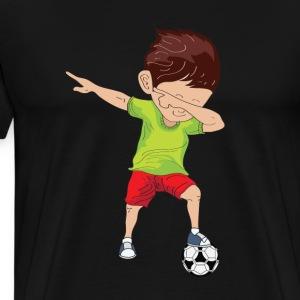 Dabbing Soccer Boy - Men's Premium T-Shirt