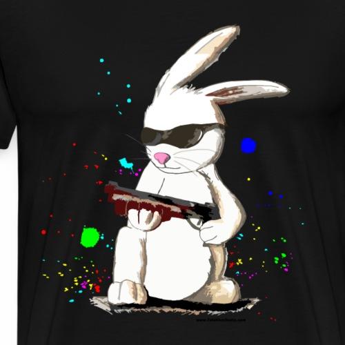 Bad Bunny Cartoon - Men's Premium T-Shirt
