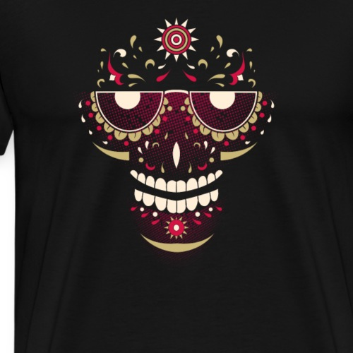 Cool Sugar Skull Dia De Los Muertos Design - Men's Premium T-Shirt