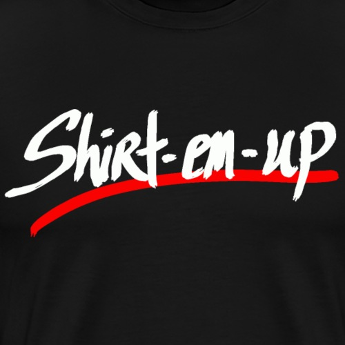 WHT SHIRTEMUP RED LINE - Men's Premium T-Shirt