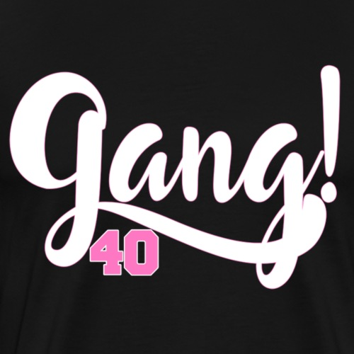 Gang 40 - White/Pink - Men's Premium T-Shirt