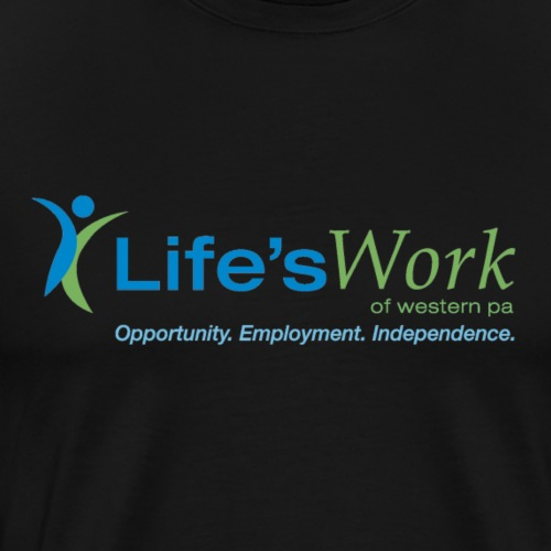 Life-sWork Standard Logo - Black - Men's Premium T-Shirt