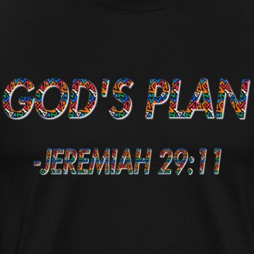 Gods Plan: Jeremiah 29:11 - Men's Premium T-Shirt