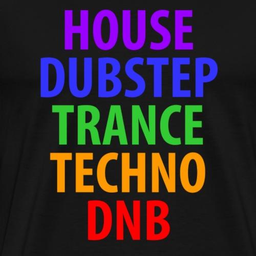 Electronic Music Genres - Men's Premium T-Shirt