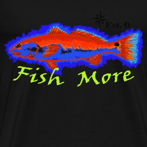 Big Red, Fish More - Men's Premium T-Shirt