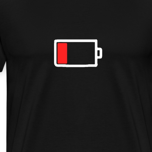 Smartphone battery empty - Men's Premium T-Shirt