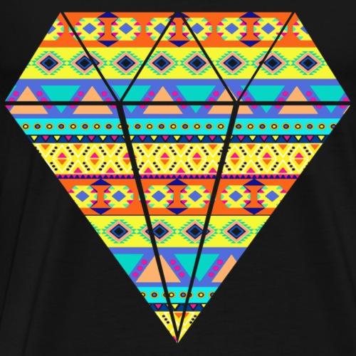 GEOMETRIC PATTERN DIAMOND - Men's Premium T-Shirt