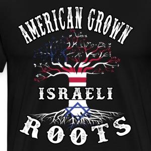 American Grown Israeli Roots - Men's Premium T-Shirt