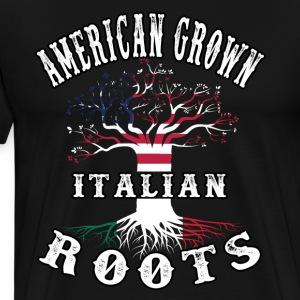 italian Roots american Grown - Men's Premium T-Shirt