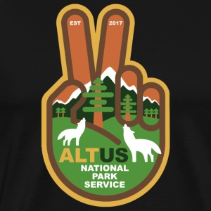 ALT US National Park Service - Peace - Men's Premium T-Shirt