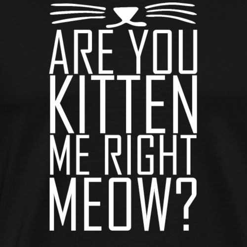 Are you kitten me right meow T Shirt Design - Men's Premium T-Shirt