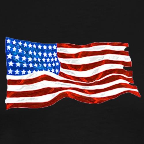 wave your flag water bright paint - Men's Premium T-Shirt