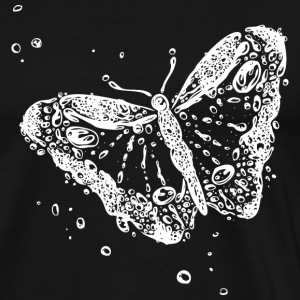 Water splash, butterfly and water drops. - Men's Premium T-Shirt