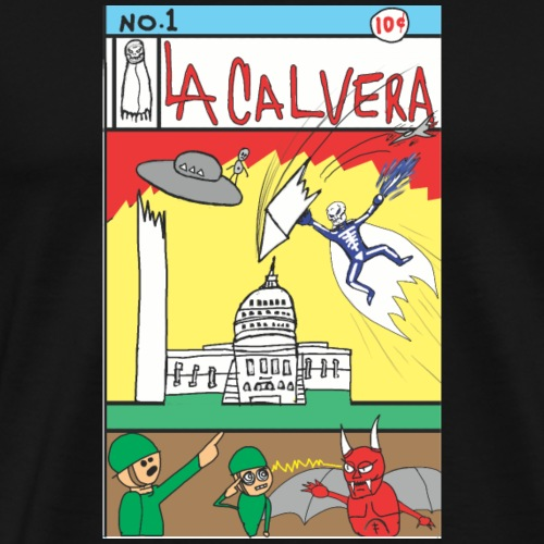 LA CALAVERA: COMIC BOOK COVER NO. 1 - Men's Premium T-Shirt