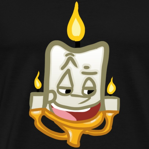 Candle Simple Personification - Men's Premium T-Shirt
