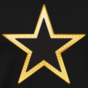 Gold and Black Star - Men's Premium T-Shirt