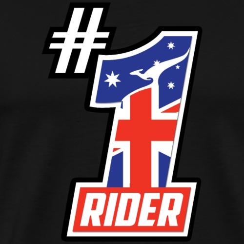 #1 Aussie Rider - Men's Premium T-Shirt