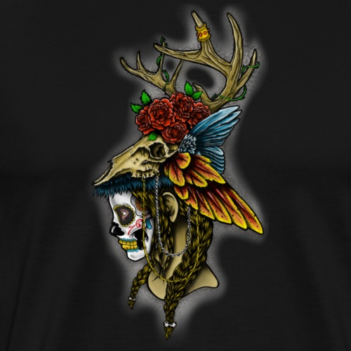 Skull Headdress - Men's Premium T-Shirt