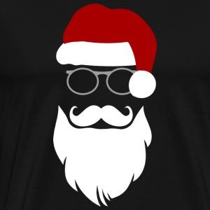 Hipster Santa - Men's Premium T-Shirt