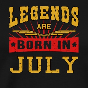 Legends are born in July funny gift shirt birth - Men's Premium T-Shirt