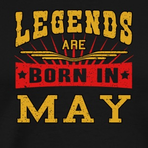 Legends are born in May funny gift shirt birthday - Men's Premium T-Shirt