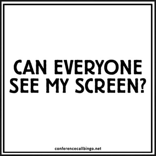 Conference Call Bingo: Se My Screen - white - Men's Premium T-Shirt