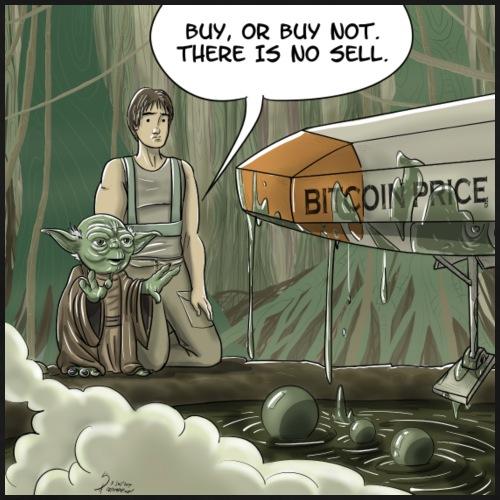 Yoda - The Bitcoin HODLer - Men's Premium T-Shirt