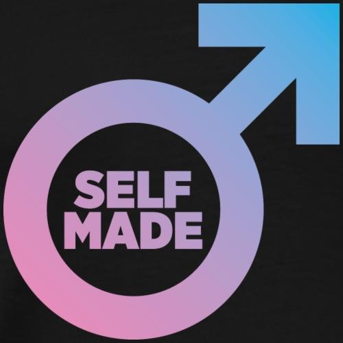 Self-Made Man design - Men's Premium T-Shirt