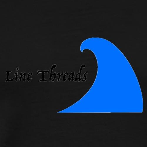 Line Threads Wave Logo - Men's Premium T-Shirt