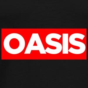 Red Oasis Text - Men's Premium T-Shirt