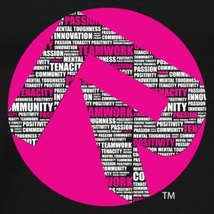 R Core Values Tshirt white pink pink circle - Men's Premium T-Shirt