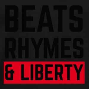Beats, Rhymes and Liberty (black) - Men's Premium T-Shirt