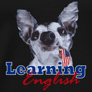 Learning English Dog - Men's Premium T-Shirt
