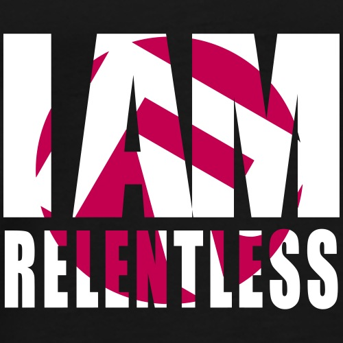 iamrelentlesswhitemagenta - Men's Premium T-Shirt
